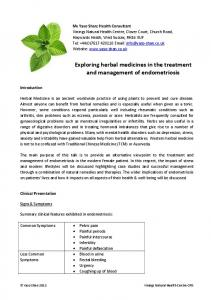 Exploring herbal medicines in the treatment and management of endometriosis