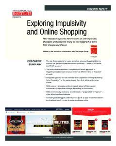 Exploring Impulsivity and Online Shopping