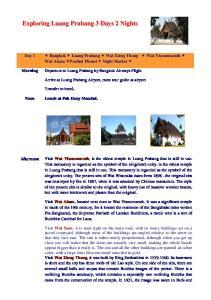 Exploring Luang Prabang 3 Days 2 Nights