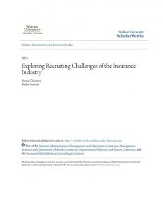 Exploring Recruiting Challenges of the Insurance Industry