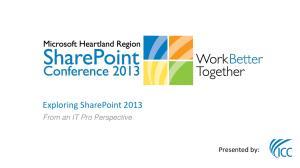 Exploring SharePoint 2013