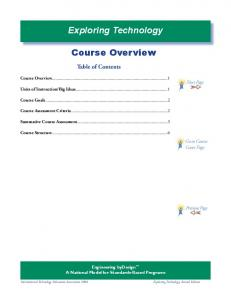 Exploring Technology. Course Overview