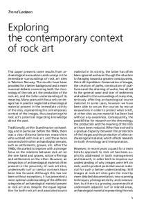 Exploring the contemporary context of rock art