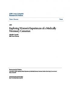 Exploring Women's Experiences of a Medically Necessary Caesarean