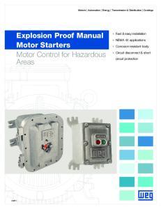 Explosion Proof Manual Motor Starters Motor Control for Hazardous Areas