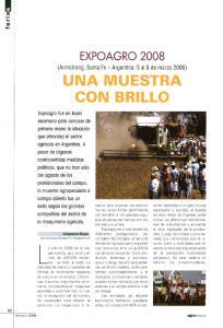 EXPOAGRO 2008 (Armstrong, Santa Fe - Argentina: 5 al 8 de marzo 2008)