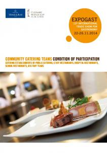 EXPOGAST. 12 th INTERNATIONAL TRADE SHOW FOR GASTRONOMY