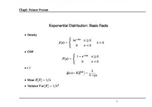 Exponential Distribution: Basic Facts