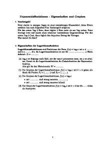 Exponentialfunktionen - Eigenschaften und Graphen