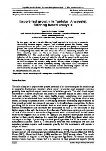 Export-led growth in Tunisia: A wavelet filtering based analysis