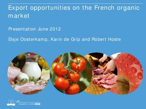 Export opportunities on the French organic market