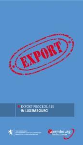 export procedures in LUXEMBOURG