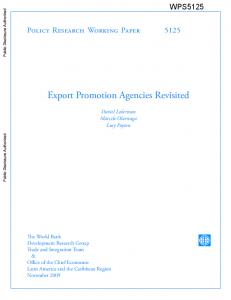 Export Promotion Agencies Revisited