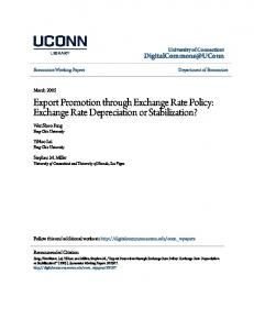 Export Promotion through Exchange Rate Policy: Exchange Rate Depreciation or Stabilization?