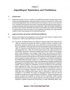 Export Restrictions and Prohibitions