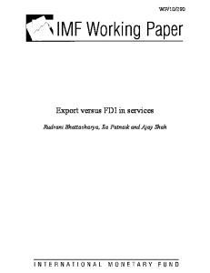 Export versus FDI in services