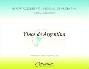EXPORTACIONES VITIVINICOLAS DE ARGENTINA ENERO A JUNIO DE 2009