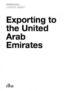 Exporting to the United Arab Emirates