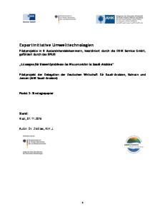 Exportinitiative Umwelttechnologien