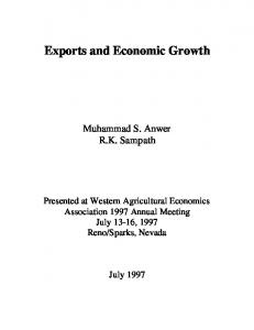 Exports and Economic Growth