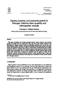 Exports, imports, and economic growth in Portugal: evidence from causality and cointegration analysis