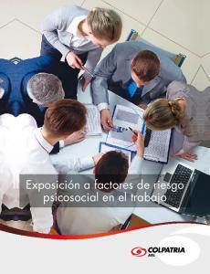Exposición a factores de riesgo psicosocial en el trabajo