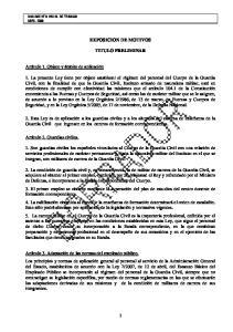 EXPOSICION DE MOTIVOS TITULO PRELIMINAR