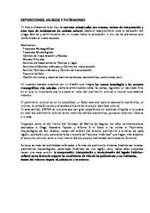 EXPOSICIONES, MUSEOS Y PATRIMONIO