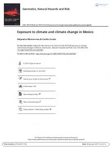 Exposure to climate and climate change in Mexico