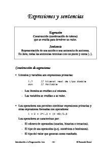 Expresiones y sentencias