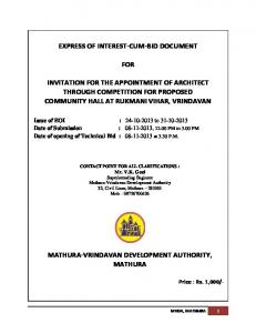 EXPRESS OF INTEREST-CUM-BID DOCUMENT FOR