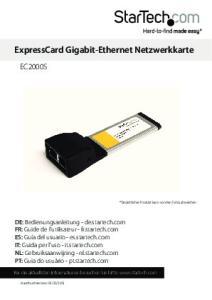ExpressCard Gigabit-Ethernet Netzwerkkarte