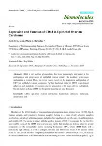 Expression and Function of CD44 in Epithelial Ovarian Carcinoma