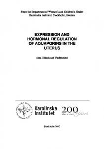 EXPRESSION AND HORMONAL REGULATION OF AQUAPORINS IN THE UTERUS