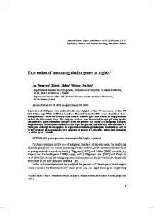 Expression of immunoglobulin genes in piglets*