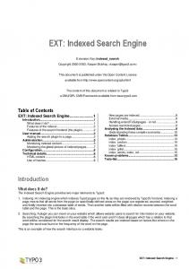 EXT: Indexed Search Engine