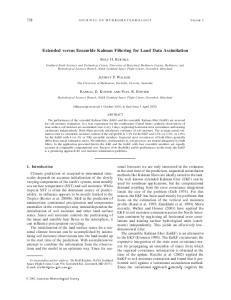 Extended versus Ensemble Kalman Filtering for Land Data Assimilation