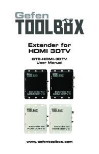 Extender for HDMI 3DTV