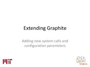 Extending Graphite. Adding new system calls and configuration parameters