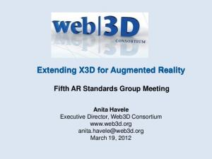 Extending X3D for Augmented Reality