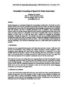 Extensible Grounding of Speech for Robot Instruction