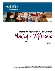 Extension Education in Lee County