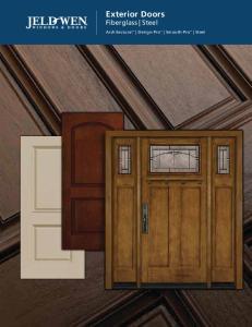 Exterior Doors Fiberglass Steel. Architectural Design-Pro Smooth-Pro Steel