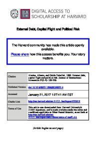 External Debt, Capital Flight and Political Risk