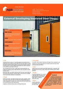 External Enveloping Insulated Steel Doors