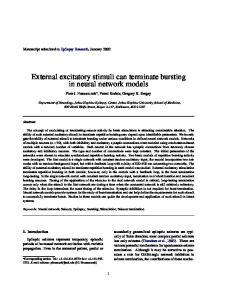 External excitatory stimuli can terminate bursting in neural network models