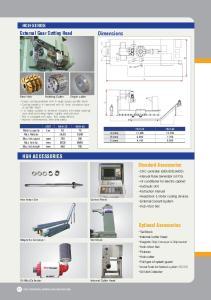 External Gear Cutting Head. Dimensions HGH ACCESSORIES. Standard Accessories. Optional Accessories HGH-SERIES