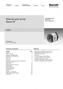 External gear pump Series B