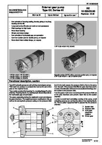 External gear pump Type G2, Series 4X