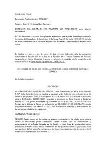 EXTINCION DEL CONTRATO POR VOLUNTAD DEL TRABAJADOR: acoso laboral: inexistencia